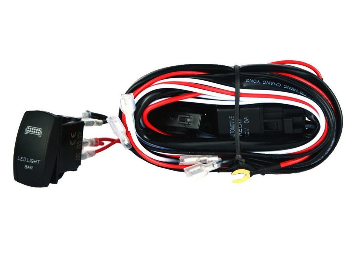 Led Light Bar Wiring Harness 30 Amp On Off Laser Rocker Switch Blue Mictuning Wire Diagram Automotive