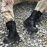 Men's Leather high-top Military Tactical Combat