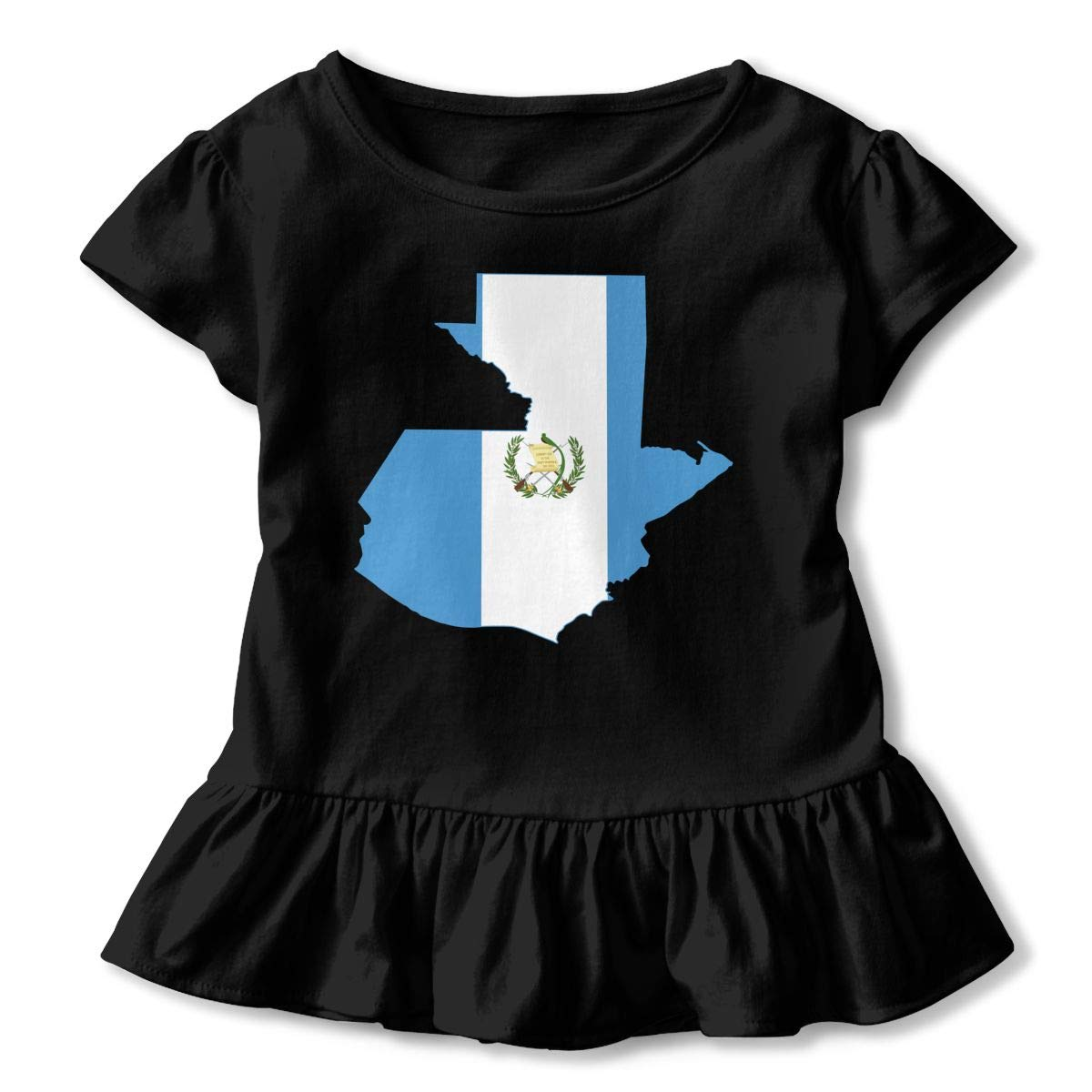 JVNSS Flag Map of Guatemala Fashion Kids Flounced T Shirts Graphic Tees for 2-6T Kids Girls