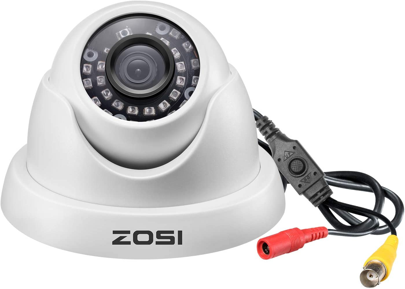 ZOSI 1080p Dome Security Cameras (Hybrid 4-in-1 HD-CVI/TVI/AHD/960H Analog CVBS),2MP Day Night Vision Weatherproof Dome Camera Outdoor/Indoor
