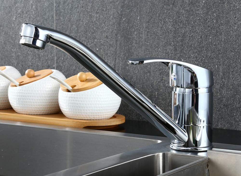 Kitchen Tap Kitchen Bathroom Chrome Sink Tap Swivel Hot and Cold Water Mixer Faucet Kitchen Taps Kitchen Sink Mixer Taps Basin Tap