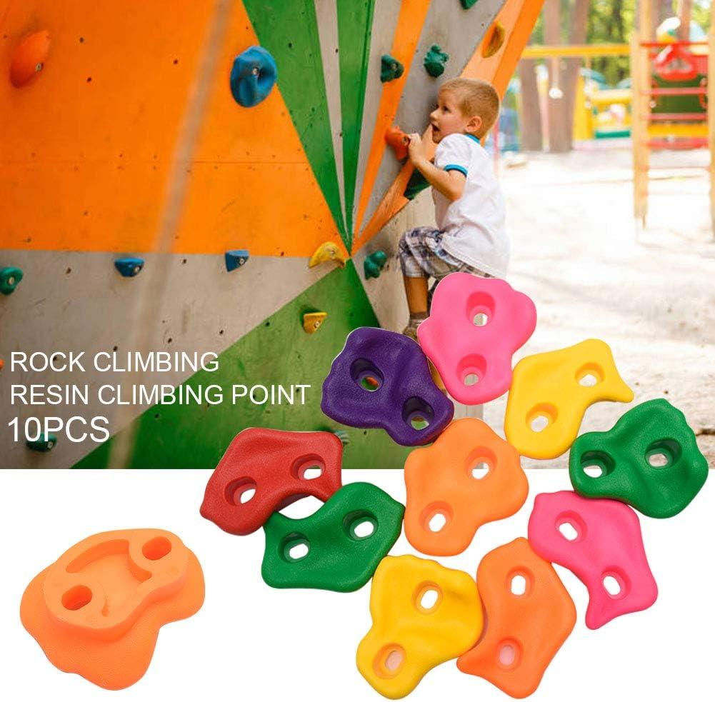 LYXMY Piedras de escalada, 10 piezas para escalar niños, juego de agarre surtido para interiores y exteriores, juegos sin tornillos