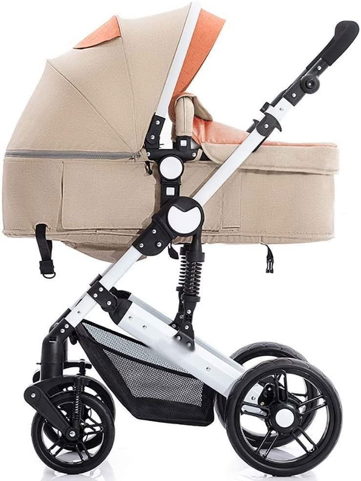 Kylin-o Infant Baby Stroller for Newborn and Toddler Convertible Bassinet Stroller Compact Single Baby Carriage Toddler Seat Stroller Luxury Pram Stroller Color : C