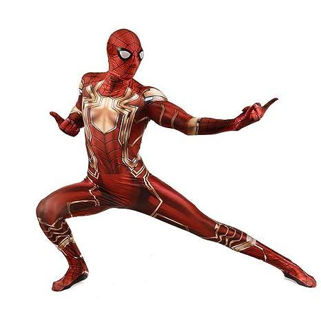 TOYSGAMES Traje de Cosplay de Spiderman Traje Elástico de ...