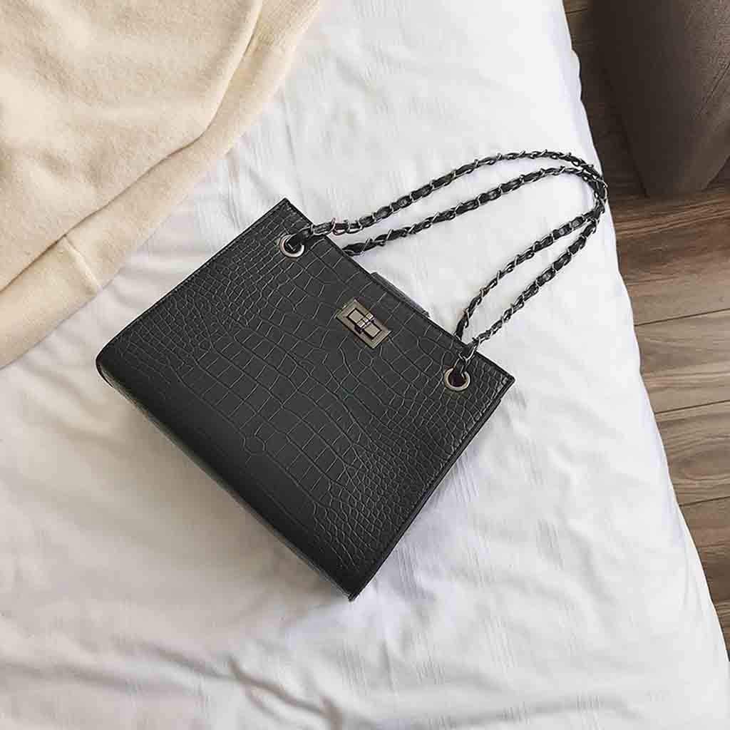 Fashion Women Crocodile Pattern Mother Bag Shoulder Bag Chain Handbag Messenger