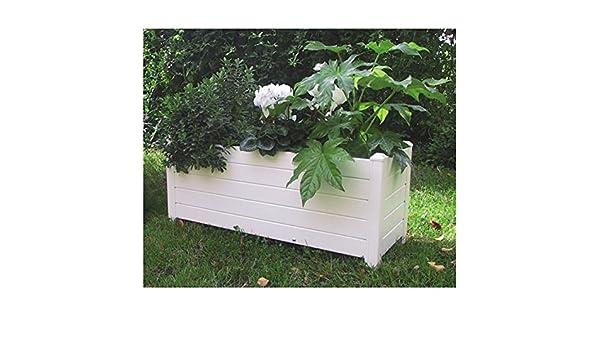 Jardinera PVC Rectangular sin autoriego: Amazon.es: Hogar
