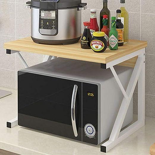 Estante de cocina Microondas De Doble Capa En El Hogar ...
