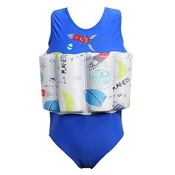 DAXIANG Niños bebé niña flotante flotabilidad Swimsuit Swimwear flotador flotante nadar entrenador de impresión de una