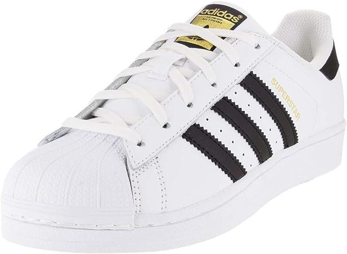 Adidas ORIGINALS Superstar Zapatillas Deportivas para Mujer,  Blanco/Negro/Blanco, 7.5 US