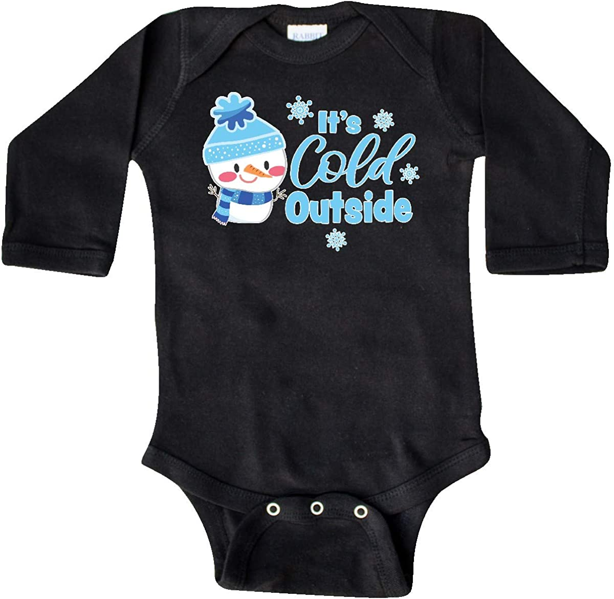 inktastic Babys 1st Christmas with Cute Snowman and Long Sleeve Creeper