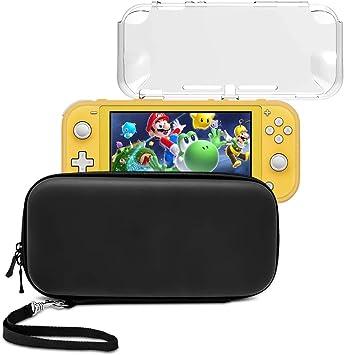 Funda para Nintendo Switch Lite 2 en 1 Switch Lite funda de transporte con funda protectora de TPU para Switch Lite Essential Pack: Amazon.es: Electrónica