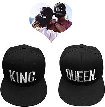 EQLEF Gorra de béisbol para los Amantes o los Pares Queen Y Rey ...
