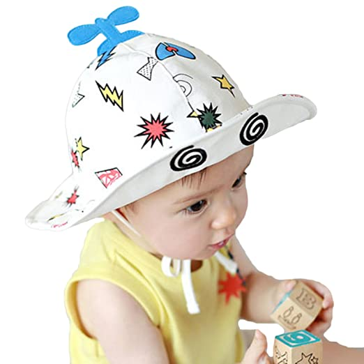 9e66f9d5f Amazon.com: Baby Girls Boys UPF 50 Caps Cartoon Plane Bucket Hat Sun ...