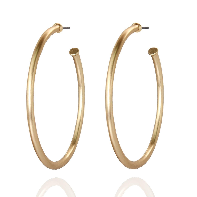 Pomina Tubular Open Round Classic Hoop Earrings Bo B. K Designs HE611 MG