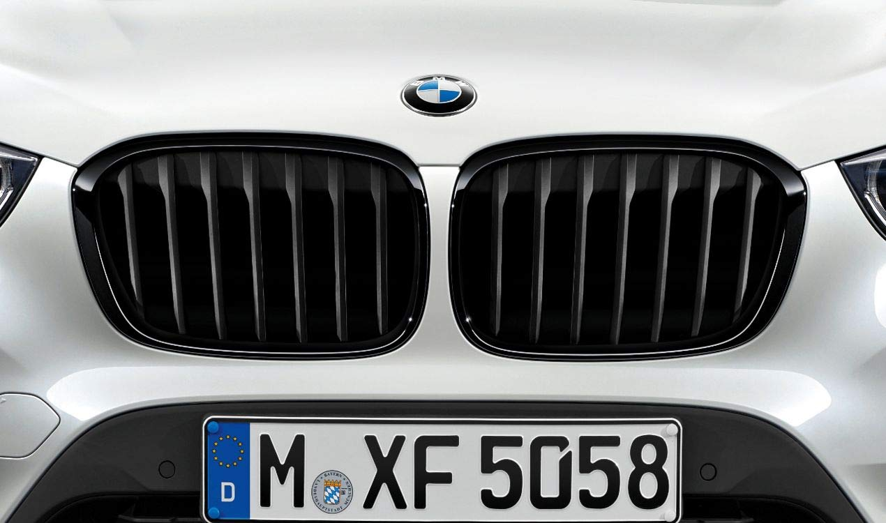 BMW Genuine M Performance Front Left Grille Trim Gloss Black Finish 51712407733