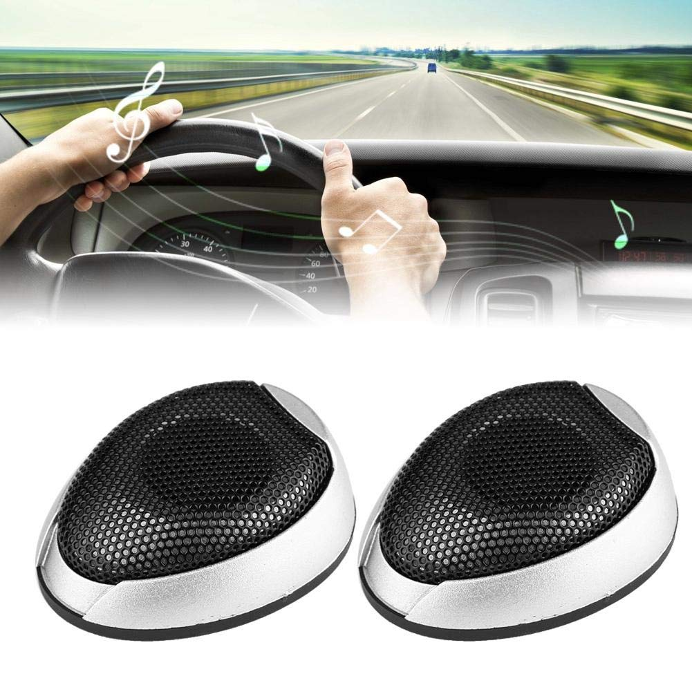 Noir Audio de haut-parleur de voiture haut-parleur de voiture 1000W Mini audio rond haut-parleur collant haut-parleur automobile avec colle