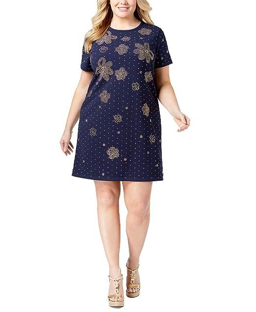 Michael Michael Kors Plus Size Embellished Shift Dress (True ...