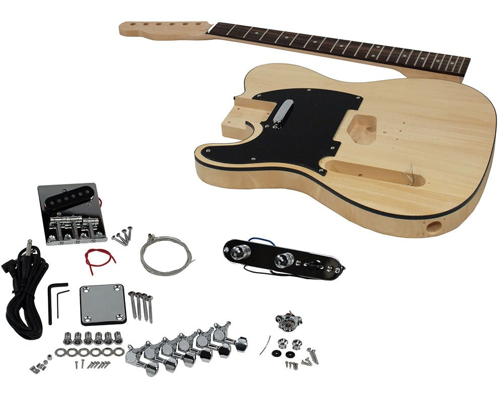 Solo TC Style DIY Guitar Kit, Basswood Body, Left Handed Solo Guitars TCK-1L