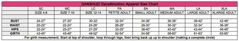 DanzNmotion by Danshuz Womens V-Back Multi Strap Leotard