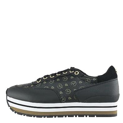 cheap for discount a35cd 175e5 Pollini Sneakers Donna TAPIRO + Vitello Nero TA15013 217 ...