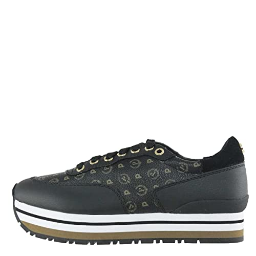 9777b9239c Pollini Sneakers Donna TAPIRO + Vitello Nero TA15013 217: Amazon.it: Scarpe  e borse