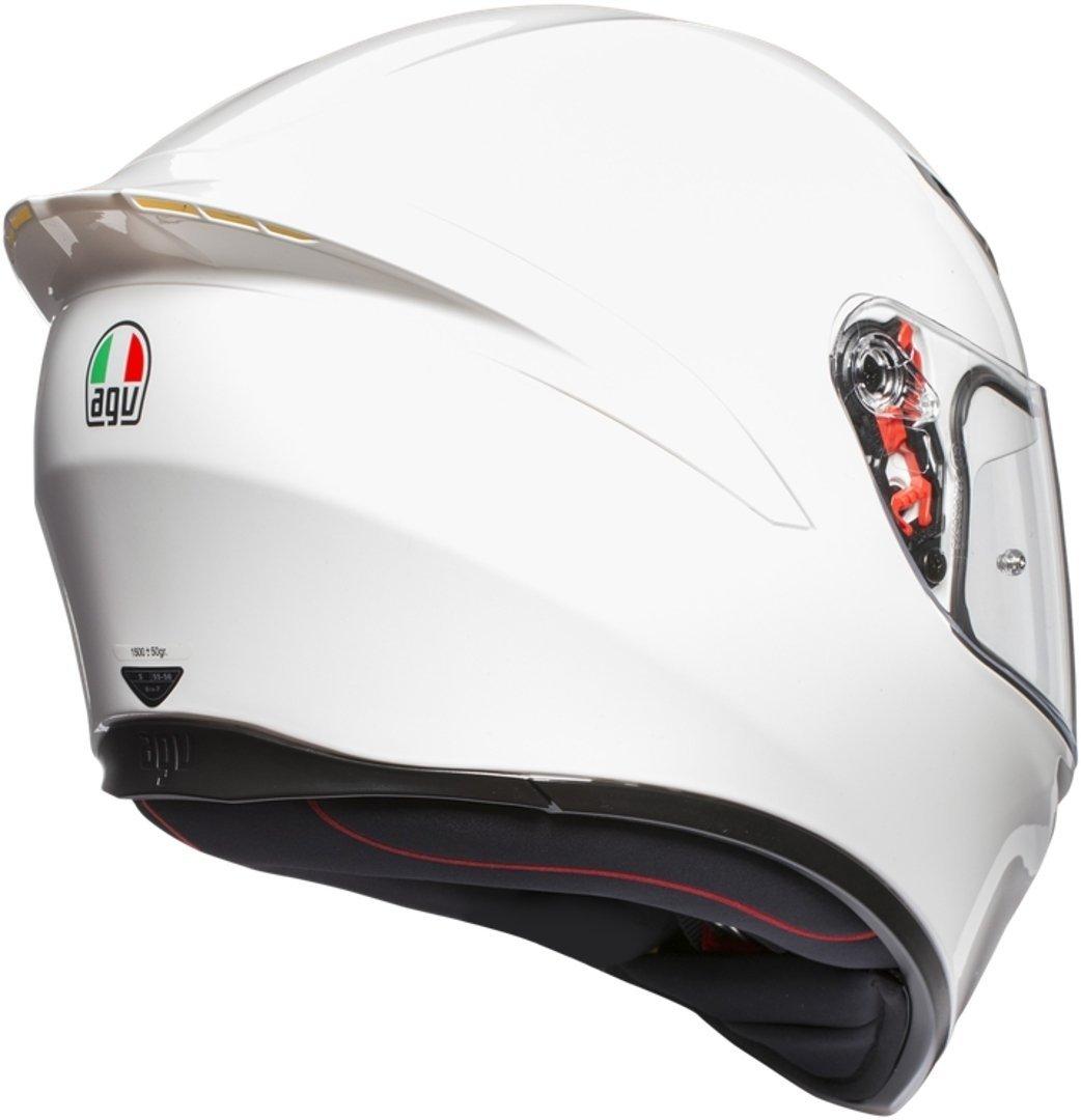 AGV K1 Visage Complet Brillant Blanc Moto Casque