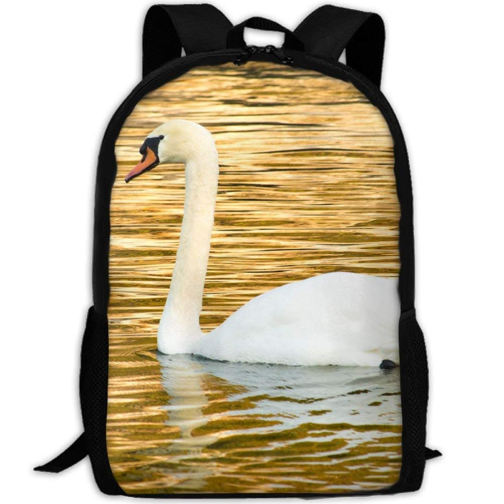 jhguihuyftyrtytgjkh Water Nature Bird Wing White Lake-Animal Cute Wildlife Golden Beak Adult Travel Backpack School Casual ypack Oxford Outdoor Laptop Bag College Computer Shoulder Bags