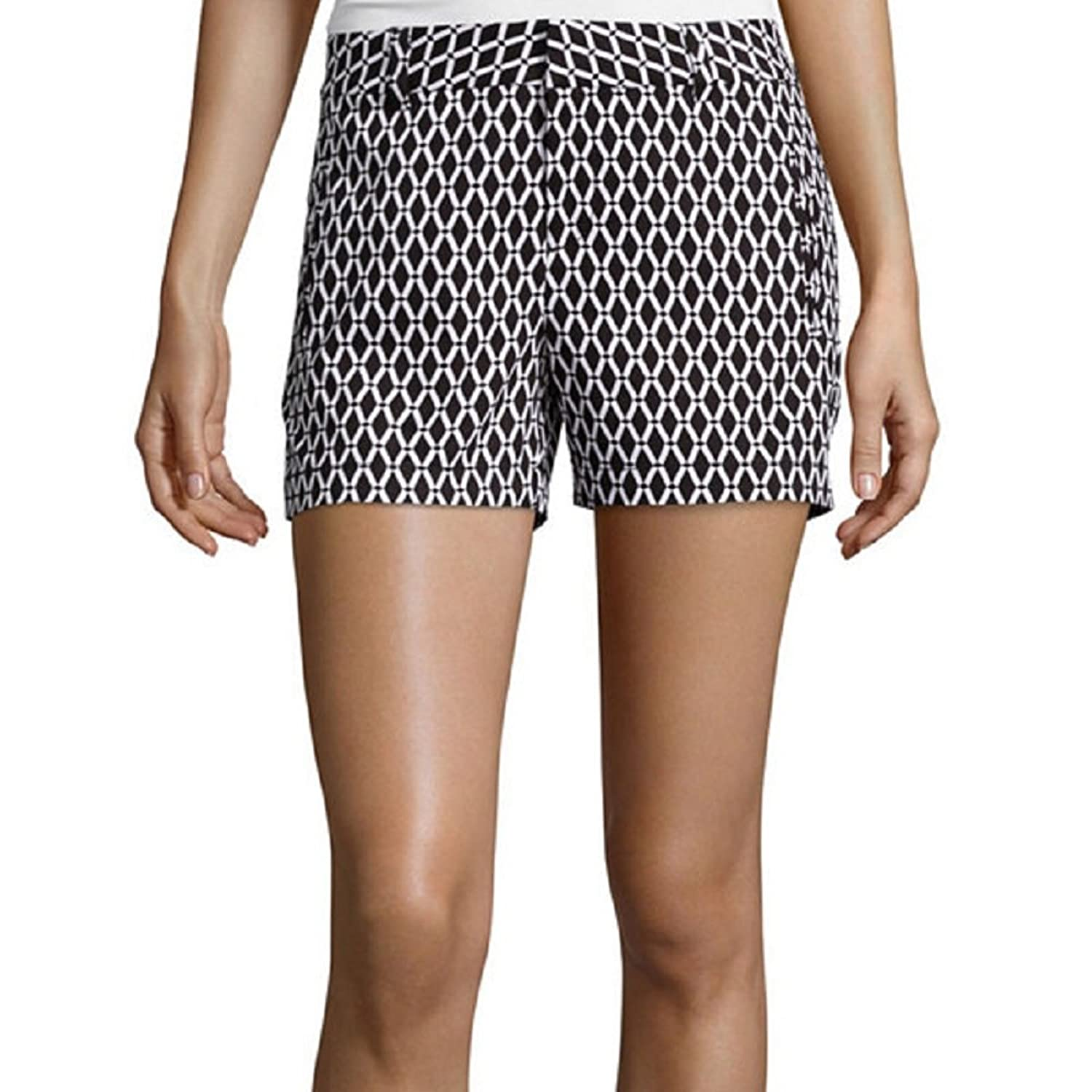 Stylus Twill Cotton Shorts Geometric Black/White Multi Size 16