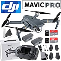 DJI Mavic Pro Collapsible Quadcopter: Includes Spare Battery, 2x SanDisk 64GB MicroSD Cards, eDigitalUSA Cleaning Kit & eDigitalUSA Microfiber Cleaning Cloth.
