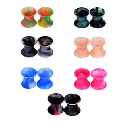 D&M Jewelry 14 Piezas de Colorida Silicona 2G-3/4(6-20mm