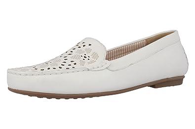Gabor - Mujer Tipo mocasín - Color Blanco Guantes en Tallas Especiales, Color Blanco, Talla 38 EU: Amazon.es: Zapatos y complementos