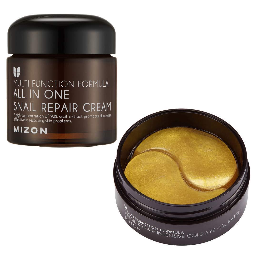 Mizon All in One Snail Repair Cream & Snail Gold Eye Masks