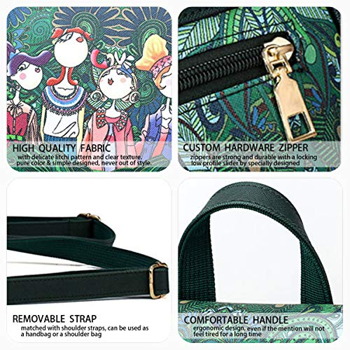 bandolera bolsos escolares Shoppers de Bolsos Verde hombro mochila PU de Cuero Mujer Bolsos y Bolsas DEERWORD IYzUxH