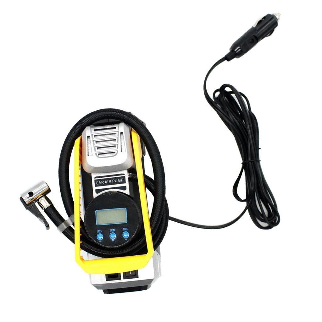 MagiDeal Portable 12V 10A Car Air Compressor Pump Digital Tyre Inflator With Light