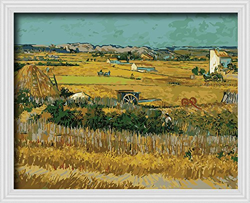 DIY PBN-paint by numbers famous painting Harvest by Van gogh 16-by-20 inches Frameless.