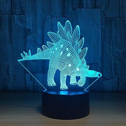Amazon Com Aetd Stegosaurus 7 Color Lamp 3d Visual Led Night Lights