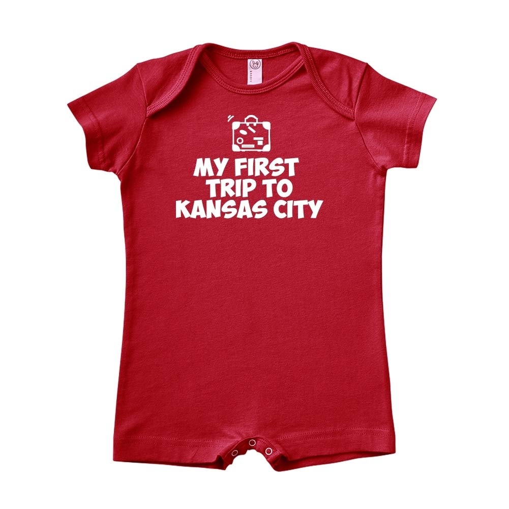 Mashed Clothing My First Trip to Kansas City Baby Romper