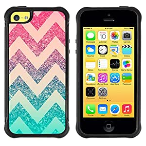 Jordan Colourful Shop@ Chevron Pink Mint Green Pattern Stars Rugged hybrid Protection Impact Case Cover For iphone 5C CASE Cover ,iphone 5C case,iphone5C cover ,Cases for iphone 5C