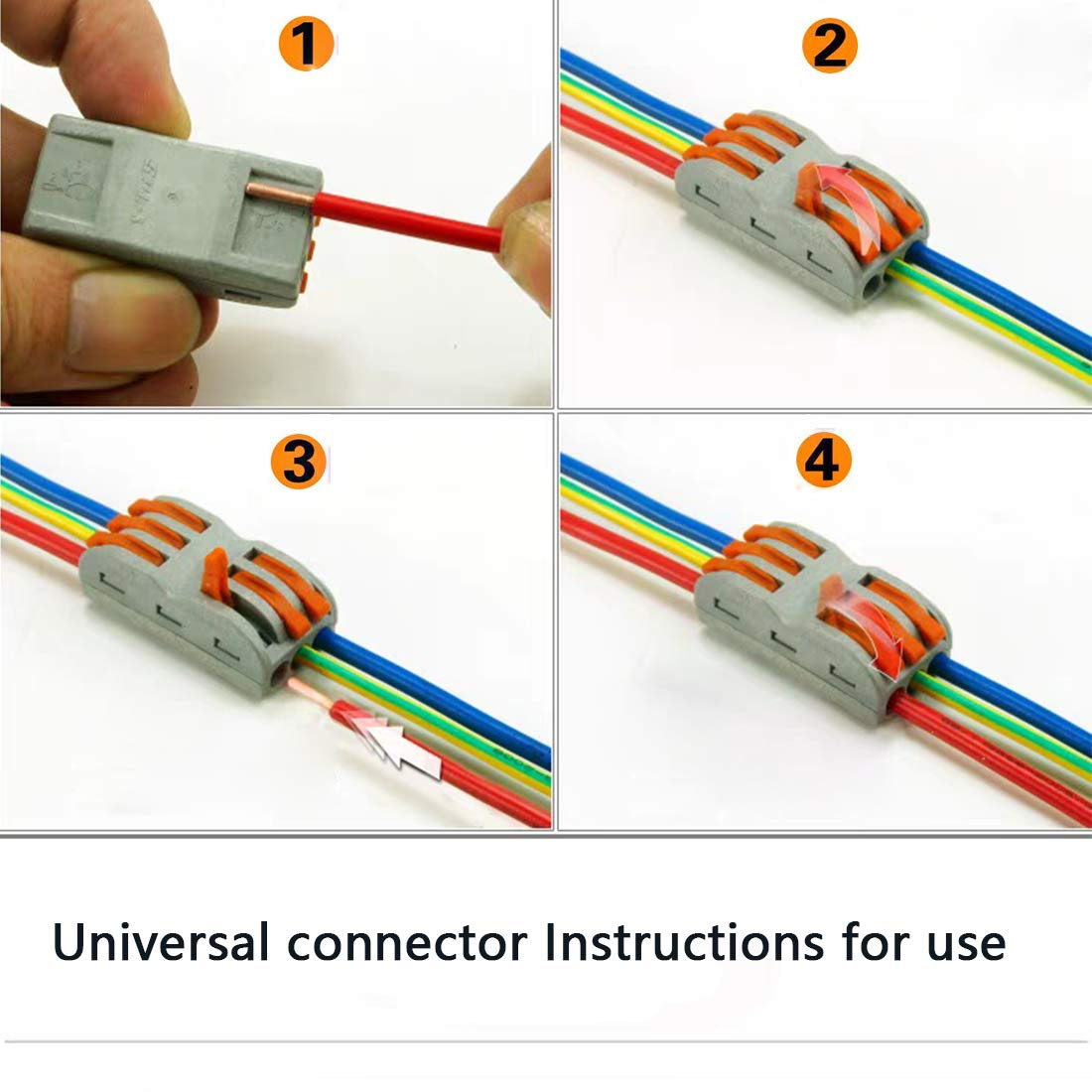 Lever-Nut,Wire Connector,Assortment Pack Conductor Compact Wire Connectors.(SPL-2,35PCS SPL-3, 35PCS)70PCS by UOHGDPY (Image #6)