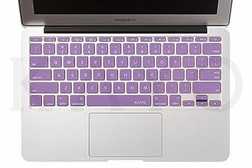 Protective Cover Skin para teclado de MacBook Air de 11 pulgadas (modelos: A1370 y A1465), color morado por Kayo Essentials: Amazon.es: Electrónica