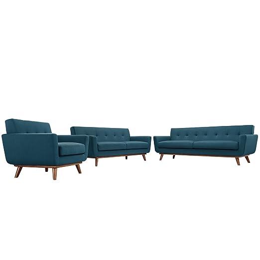 America Luxury - Sofa Sofá Moderno y contemporáneo con Tres ...