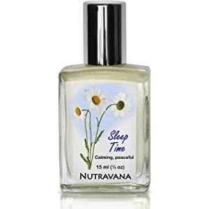 """Sleep Time Signals Our Unconscious""""It's Time for Sleep"""" (15ml) Begin Deep Health-Restoring Sleep Cycles, Aid Energy Recovery Kids Safe No Risk Herbal Remedy by Nutravana Lavender Chamomile Neroli Oil"""