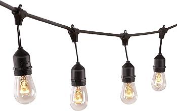 Zuoqi UL-Listed 48' Outdoor String Lights (28 Bulbs)