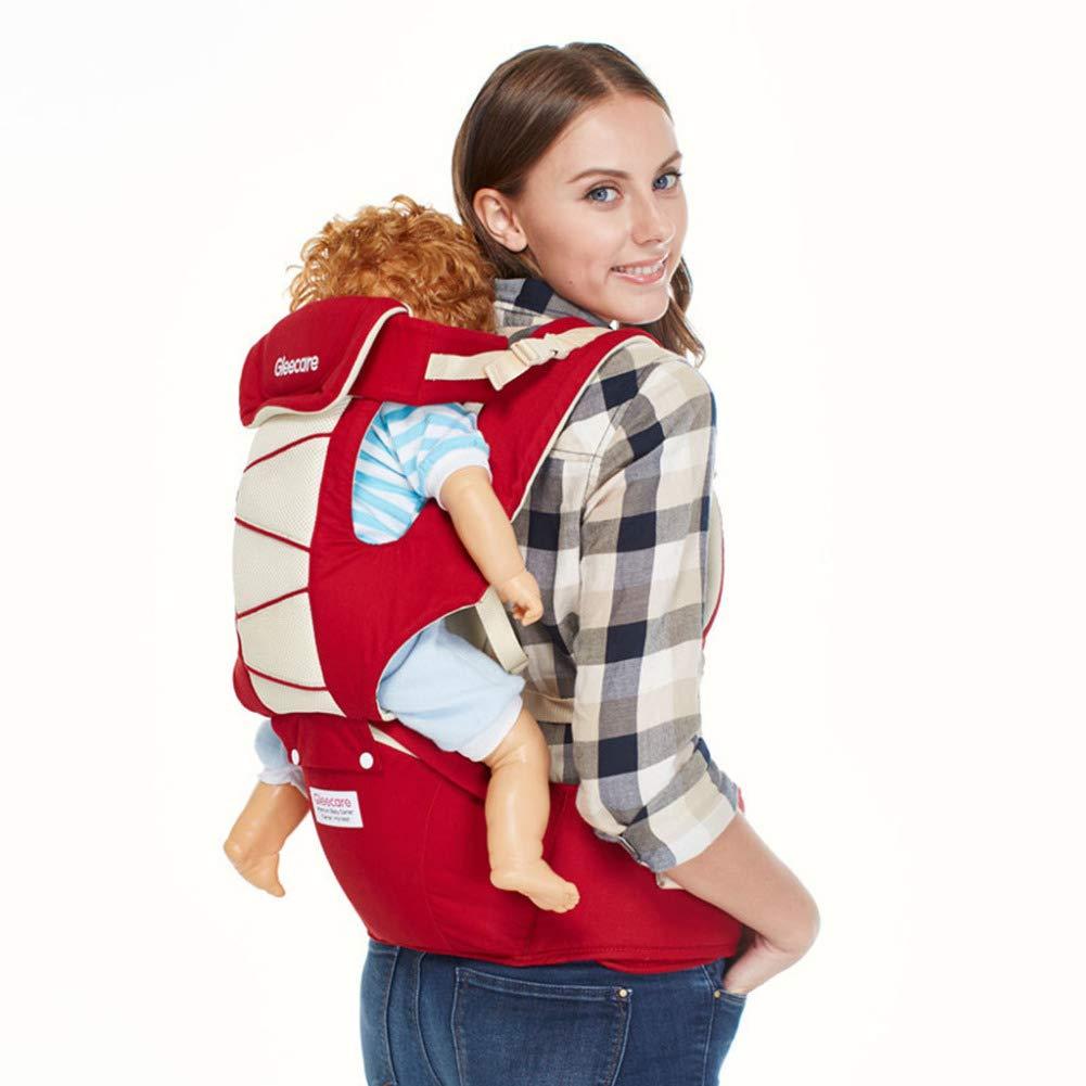 Portabebé, algodón algodón algodón transpirable confort, multifunción, rojo, taburete de cintura 680d93