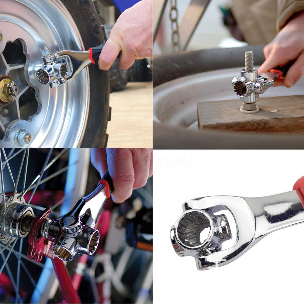 Bardland BS-8 llave de vaso universal 48 herramientas en 1 360 grados giratorio port/átil muebles coche reparaci/ón funciona con tornillos de estribo Torx Square pernos y cualquier tama/ño est/ándar