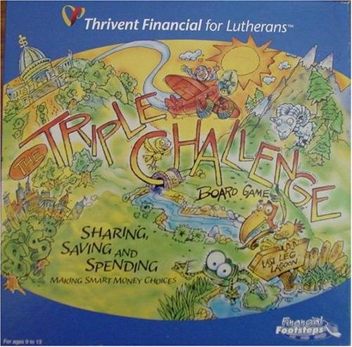 Triple Challenge Board Game; Sharing, Saving and Spending; Making Smart Money Choices by Financial Footsteps