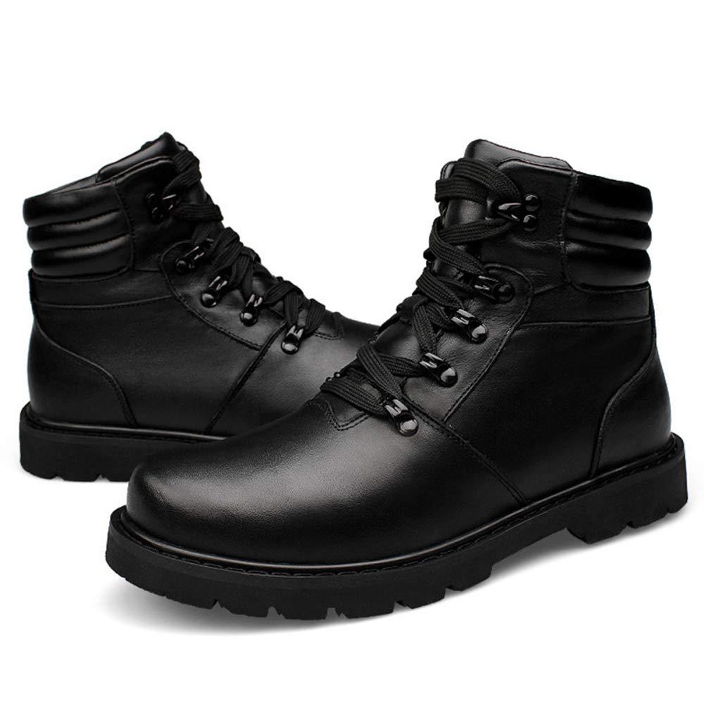 Snfgoij Schnee Schnee Schnee Stiefel Herren Wasserdichte Winter Stiefel Winter Schuhe Freizeit Lace Up Rutschfeste Winter Mode Freizeit Plus Samt Hohe Hilfe c2bcdb
