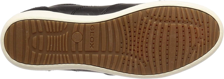 Geox - D Myria C - Baskets Hautes - Femme Noir Black C9999