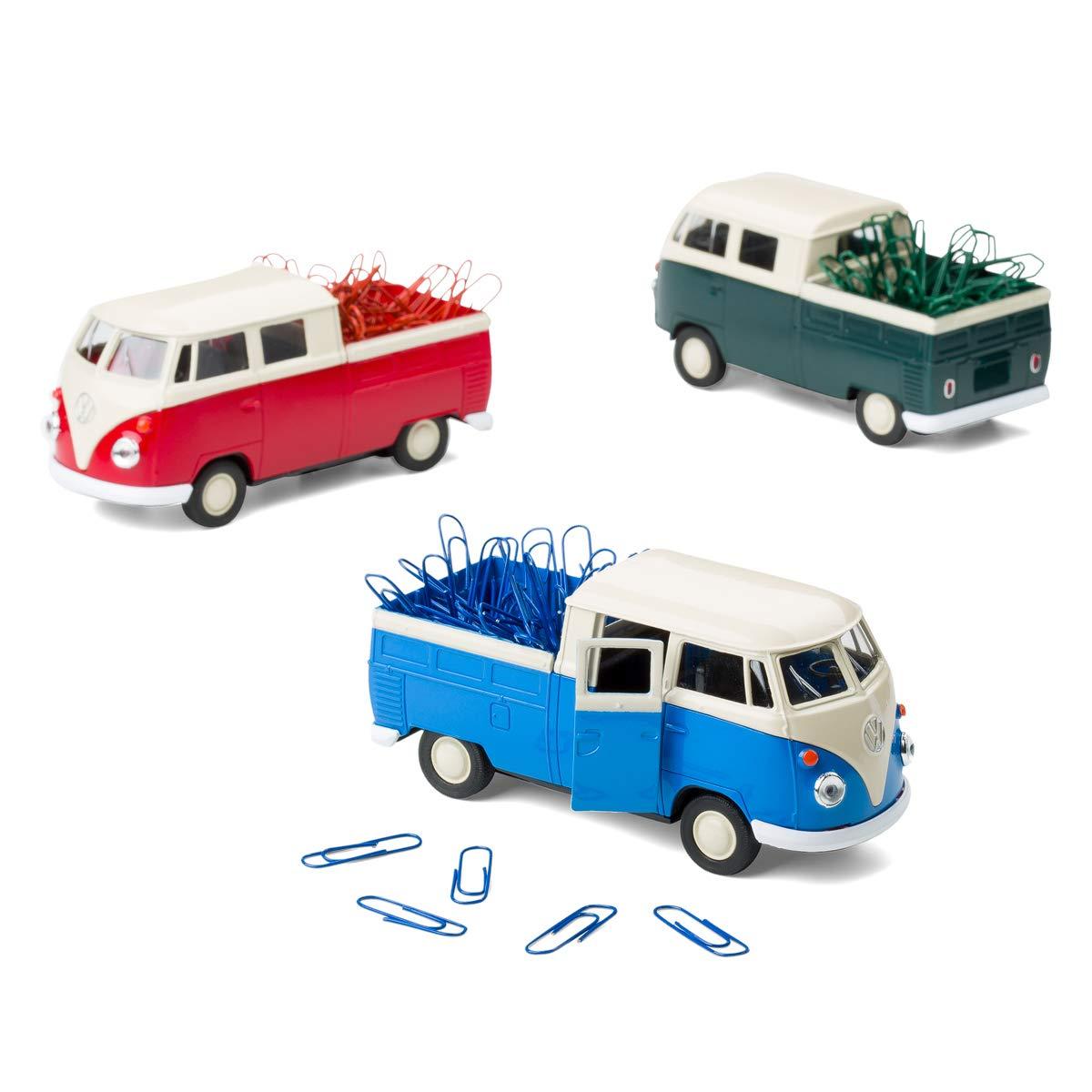 Spartechnik Dispenser di graffette magnetiche per VW Bus T1 Transporter con graffette 1:38 Blu