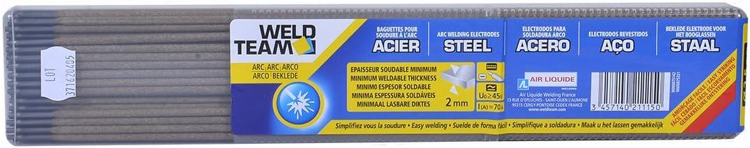 /Ø2,5 mm WELDTEAM Pack de 115 baguettes ARC ACIER pour la soudure /à larc